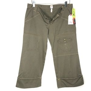 Joie Jeans - NWT Joie Olive Green Cropped Denim Jeans A170437